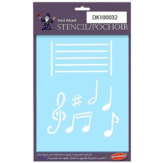 Dynamic DK100032 Paint Wizard Midi Stencil with Music Melody