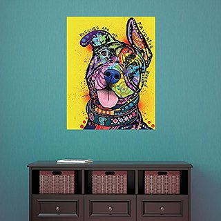My Wonderful Walls Pit Bull Splash Art Decal My Favorite Breed by Dean Russo (L)