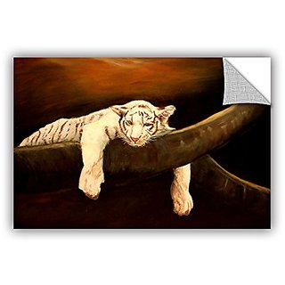 ArtWall Lindsey Janichs Baby Tiger Appeelz Removable Graphic Wall Art, 16 by 24