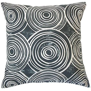 The Pillow Collection P18-ROB-WHIMSYCIRCLES-KOHL-C100 Ahuva Geometric Pillow, Kohl