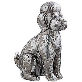 Prinz Antique Silver Ceramic Poodle