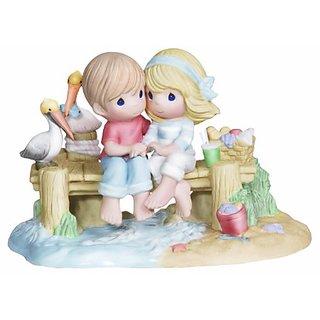 Precious Moments Ed Couple on Dock Figurine