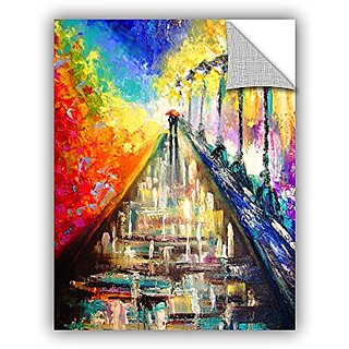 ArtWall Susi Francos Rainy Paris Evening Art Appeelz Removable Graphic Wall Art, 24 by 32