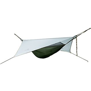Vinqliq Outdoor Expedition Expert Hammock with Silicone Rainfly and No-see-um Netting for Outdoor Exploration, Camping,
