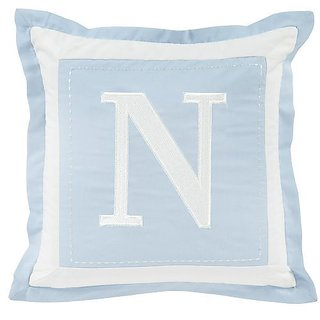 1 X Sweet Dreams Monogrammed Pillow Cover - N - Blue
