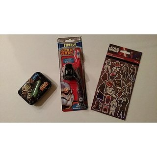 Starwars Toothbrush, Cotton Swaps & 4 Sheets of Stickers Gift Pack/stock Stuffer