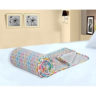 Salona Bichona Dohar Cotton White Double Bed Size Duvet Cover Dohar