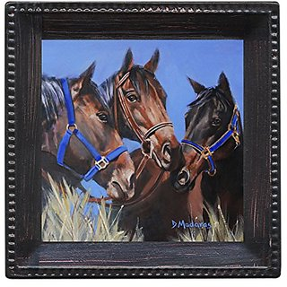 Thirstystone Ambiance Coaster Set, Horse Talk, Multicolored