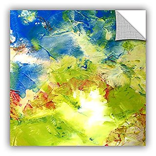 ArtWall Herb Dickinsons An Abstract Filled with Floral Colors and Sunlight Abstract 236 Art Appeelz Removable Graphic Wa