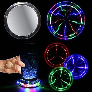 LED Light Up Multi Color Tunnel Drink Coaster
