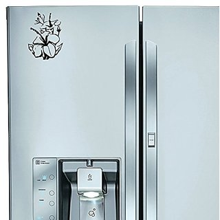 StickAny Kitchen Appliance Series Big Hibiscus Sticker for Refrigerators, Dishwashers, and More! (Black)