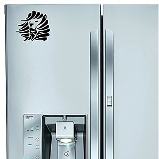 StickAny Kitchen Appliance Series Egypt Lion 3 Sticker for Refrigerators, Dishwashers, and More! (Black)