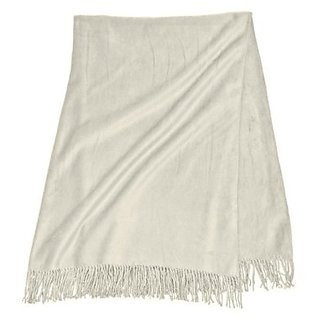 Yala SFBRW.SZSTONE Silk Fleece Throw Blanket, Stone
