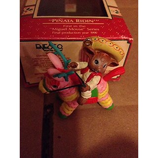 Enesco Pinata Ridin Miguel Mouse 1st in Series 1989 Ornament in Box