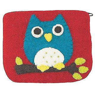 Coinpurse Owl Handmade Certified Fair Trade