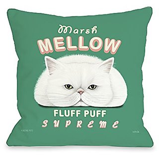 Bentin Home Decor Marsh Mellow Throw Pillow w/Zipper by Retro Pets, 18