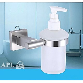 TEN-HIGH-8215 304# Stainless Steel Seat Soap Dispenser Bathroom Accessories, Brushed Nickel