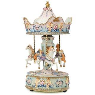 MusicBox Kingdom 14031 Carousel with Angel Music Box Playing
