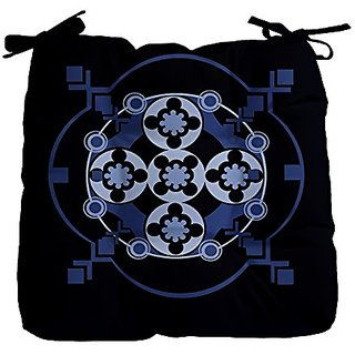 E By Design FPGN111BL14 Geometric Decorative Floor Pillow, Blue