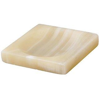 Alabaster Marble bar soap dish holder for the shower and bathroom sink accessories SQAURE 4.5x4.5 inch( 11x11 cm )