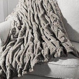Vogue Luxury Faux Fur Sherpa Reversible Throw Blanket 50