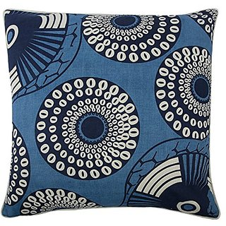 thomaspaul Yinka Pillow, 22-Inch, Azure