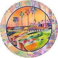 Set Of Four Tie-Dye Coastline Occasions Drink Coasters - Style VRZ1