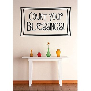 Design with Vinyl 1 Zzz 547 Decor Item Count Your Blessings Bible Quote Wall Decal Sticker, 10 x 20-Inch, Black