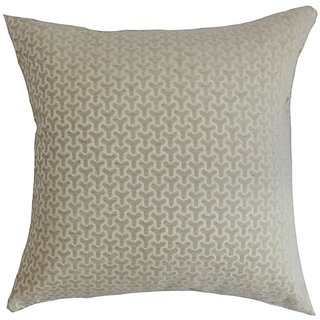 The Pillow Collection Cinquefoil Geometric Pillow, Neutral