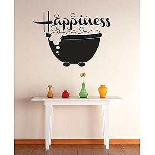 Design with Vinyl 1 Zzz 154 Decor Item Happiness Bubble Bath Image Quote Wall Decal Sticker, 12 x 12-Inch, Black