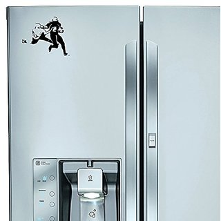 StickAny Kitchen Appliance Series Football Stiffarm Sticker for Refrigerators, Dishwashers, and More! (Black)