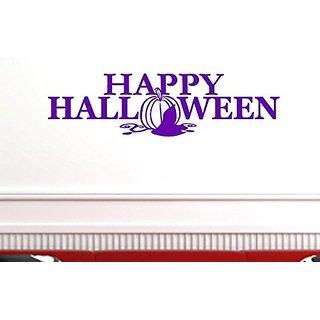 Vinyl Say G.Purple -77x21-h.0009Happy Halloween Wall Decal, 77-Inch x 21-Inch, Gloss Purple