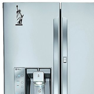 StickAny Kitchen Appliance Series Statue of Liberty Sticker for Refrigerators, Dishwashers, and More! (Black)