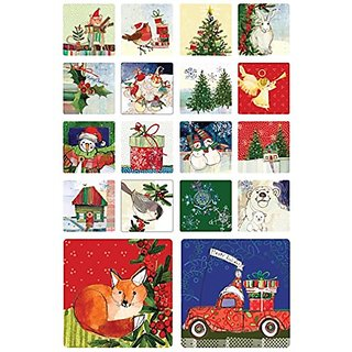 DrinkBlots Spirit of Christmas Art Coasters AC11385