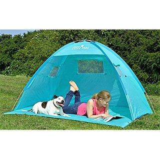 Beautiful Turquoise sea blue Automatic large Premium quality Instant pop-up Portable Outdoors Beach Tent UV protected Ou