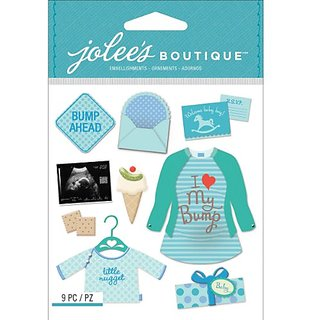 Jolees Boutique Dimensional Stickers, Baby Boy Pregnancy