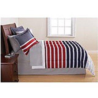 Mainstays Complete Bedding Set, Stripe, TWIN 063108672371