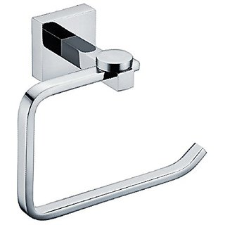 Contemporary Chrome Finish Solid Brass Toilet Paper Holder