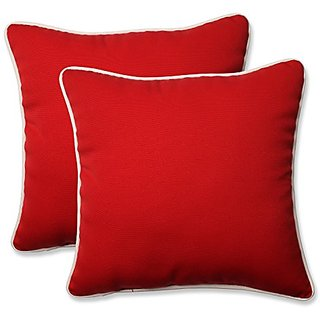 Pillow Perfect Outdoor / Indoor Americana Red 16.5-Inch Throw pillow (Set of 2)