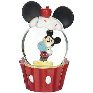 Westland Giftware Resin Water Globe, Mickey Mouse Cupcake, 45 mm