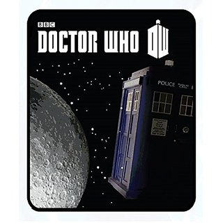 Doctor Who Tardis Moon in Space Fleece Throw Blanket50