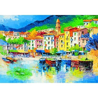 Komar DM112 Ideal Decor Riviera Ligure 8-Panel Wall Mural