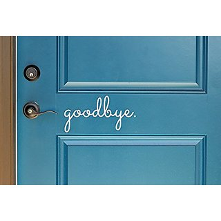 Goodbye in Cursive Indoor/Outdoor Lettering Wall Art Decor Sticker Vinyl for Door 5