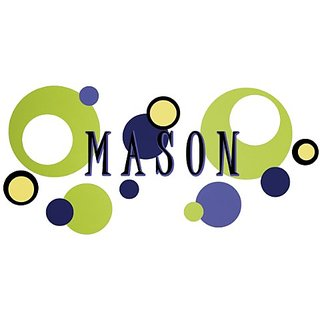 Wall Wear Decals WW-136-BN Mason Name Decal
