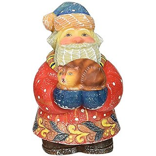 G. Debrekht Kitty Caretaker Sant a Figurine, 3-1/2-Inch Tall, Limited Edition of 900, Hand-Painted
