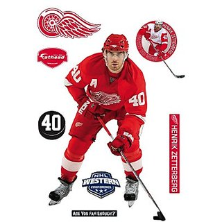 NHL Henrik Zetterberg Detroit Red Wings Player Wall Decal