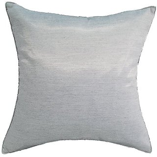 Avarada Solid Throw Pillow Cover Decorative Sofa Couch Cushion Cover Zippered 18x18 Inch (45x45 cm) Silver Grey