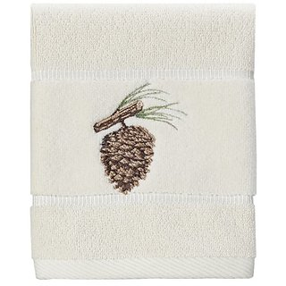 Creative Bath Products Northwoods Embroidered Wash Cloth