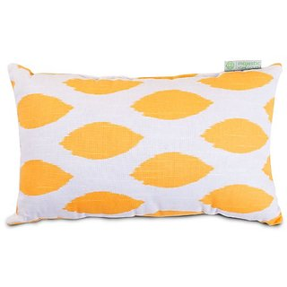 Majestic Home Goods Alli Pillow, Small, Yellow