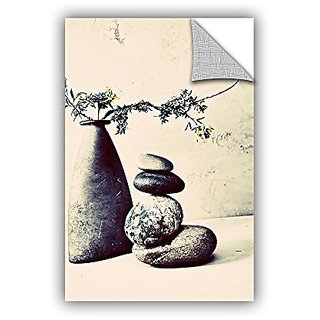 ArtWall Elana Rays Stones & Vase Appealz Removable Graphic Wall Art, 12 x 18